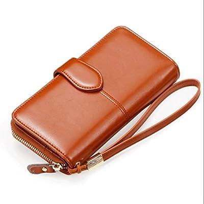 ZLR Mme portefeuille Boucles d'oreilles portefeuille à la longue et à la fois Portefeuille à grande carte Portefeuille à grande capacité Portefeuille à grande capacité