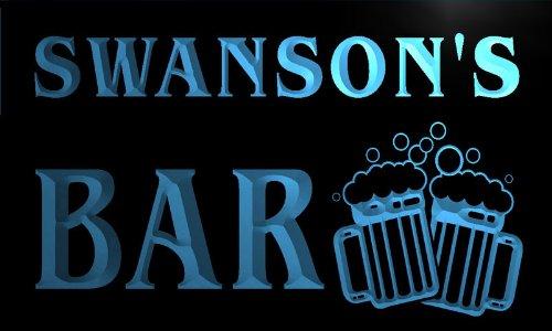 cartel-luminoso-w000375-b-swanson-name-home-bar-pub-beer-mugs-cheers-neon-light-sign