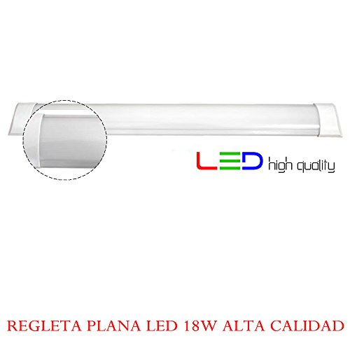 Regleta LED Superficie 18W 6.000K Blanco Frio 60cm