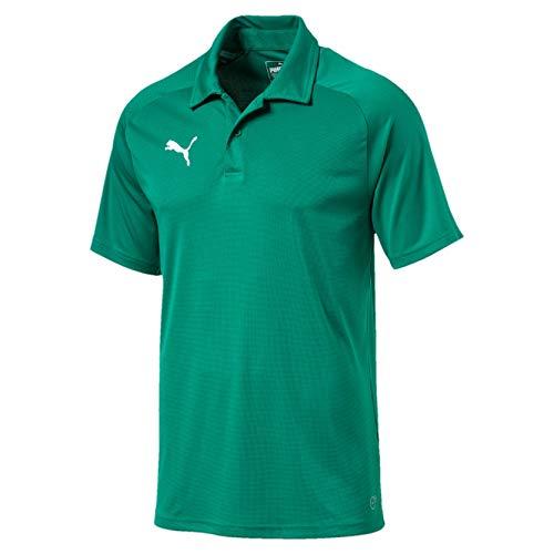 PUMA Herren Liga Sideline Polo T-Shirt, Pepper Green White, L -
