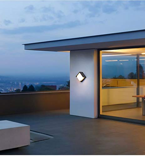 Europäische Wandleuchte, Outdoor/Indoor, kreative wasserdichte Ganglampe LED Wandleuchte Balkon Außenleuchte Terrasse Außenwand Gartenlampe-Warmlight