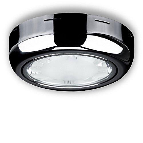 Aufbauleuchte Deckenanbaulampe Deckenleuchte Deckenaufbauleuchte Aufbaulampe Chrom Rund 2x E27 max. 2x15Watt -