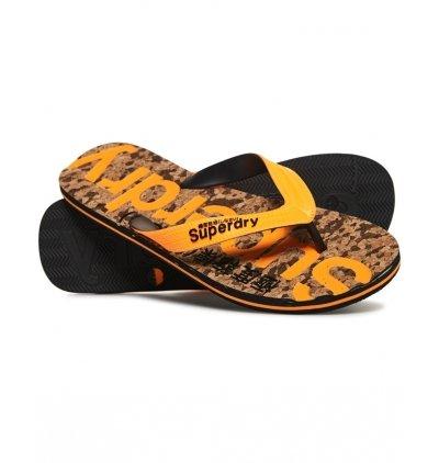 Schuhe Zehentrenner Cork Flip Flop Mf3279sqf5-Mn7 Black Fleck/Fluro Orange M -