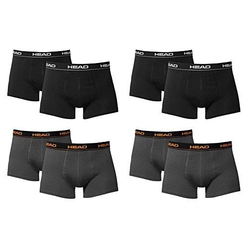 HEAD Men Boxershort 841001001 Basic Boxer 8er Pack, 4x Black 4x Dark Shadow, L