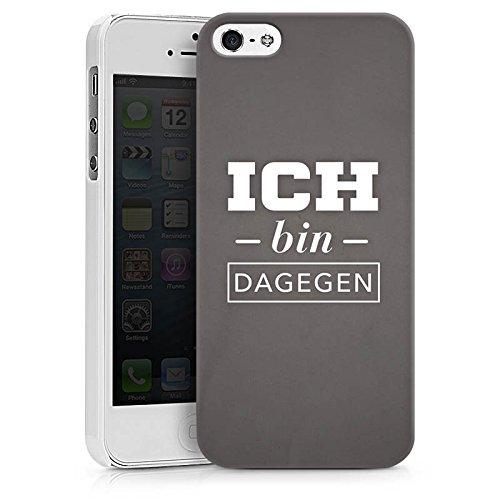 Apple iPhone X Silikon Hülle Case Schutzhülle Ich bin dagegen Sprüche Statement Hard Case weiß