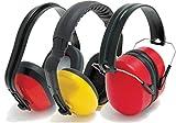 Blackrock-1x-Pair-of-SNR-25-27-30dB-Ear-Defenders-Noise-Protection-Comfort-Folding-Headband-Yellow-Orange