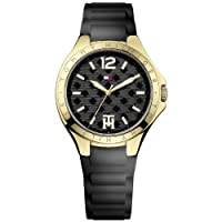 Tommy Hilfiger Averil - Reloj de cuarzo para mujer, con correa de silicona, color negro de Tommy Hilfiger