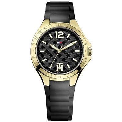 Tommy Hilfiger Averil - Reloj de cuarzo para mujer, con correa de silicona, color negro