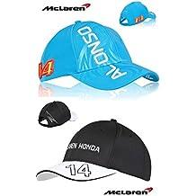 McLaren Honda F12015gorra del equipo de Fernando Alonso y tapa de color azul (2unidades)