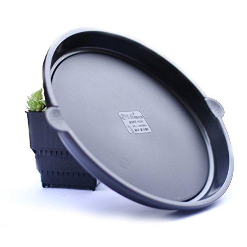 Kunststoff Verdickung mit Griff Tablett Runde Untertasse für Blumentopf Weiß Schwarz Kaffee (5 Stücke Min. Order) (Color : Black, Size : 7inch) -