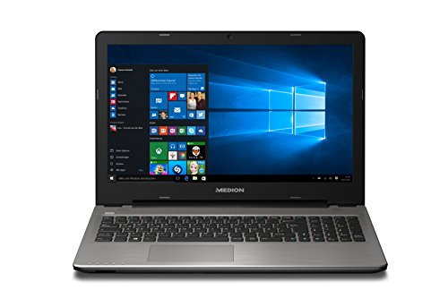 Medion Akoya E6415 MD 60391 39,6 cm (15,6 Zoll mattes HD Display) Notebook (Intel core i3-5005U, 8GB RAM, 256GB SSD, Intel HD-Grafik, Win 10 Home) silber DE