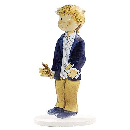 mopec Pastell-Figuren-Pack Kommunion Junge mit amerikanischen, eloxiertes Metall, Weiß, 4.2x 8.5x 16cm, 2Stück