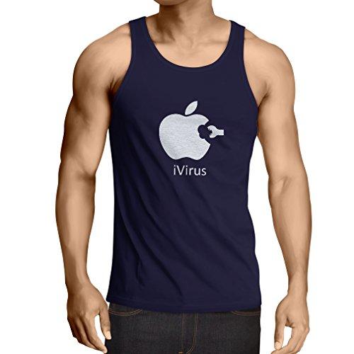 Weste iVirus - Neues tech Liebhaber lustiges Geschenk (Small Blau Weiß)
