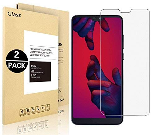 Verre trempé Huawei P20 Lite, Vigeer [2 Pack] Huawei P20 Lite Film Protection en Verre trempé écran protecteur ultra résistant Glass Screen Protector pour Huawei P20 Lite