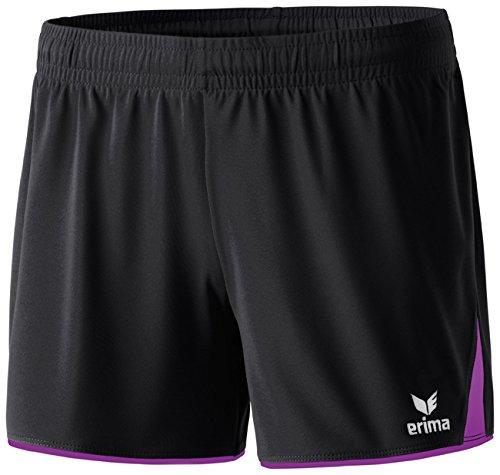 erima Damen Classic 5-C Shorts, schwarz/lila, 38