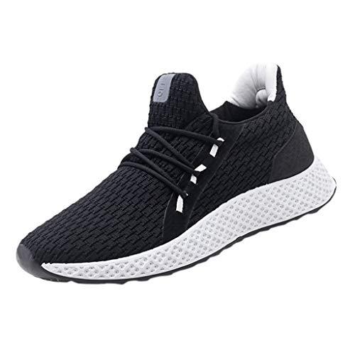 Chaussures de course hommes, absorption des chocs, chaussures de fitness, basket-ball, chaussures de sport étudiantes respirantes et antidérapantes tissées à la main, chaussures pour jogging