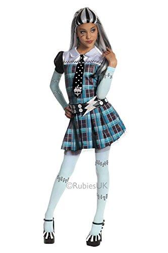 Mädchen Frankenstein Offiziell Monster hoch Halloween Kinder Maskenkostüm - Frankie Stein - Größe (Kostüm Halloween Frankie Stein)