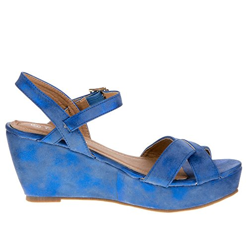 Ital-Design, Sandali donna Blu (blu)