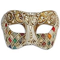 Máscara Veneciana para Ojos Colombina Mosaica para Mujer