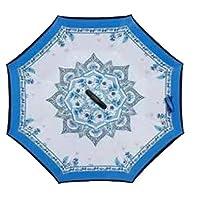 comechen Automatic on/off weatherproof umbrella waterproof parachute portable umbrella,Reverse umbrella double sunshade umbrella