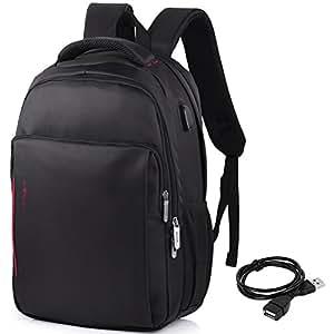 vbiger sac dos pour ordinateur portable etanche antivol avec c ble usb et port de charge. Black Bedroom Furniture Sets. Home Design Ideas