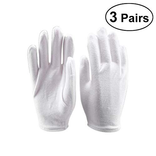 Frcolor 6Leicht Weich Baumwolle Schutz Handschuhe für Industrie Arbeitsmarkt Garten-Größe XL (weiß)