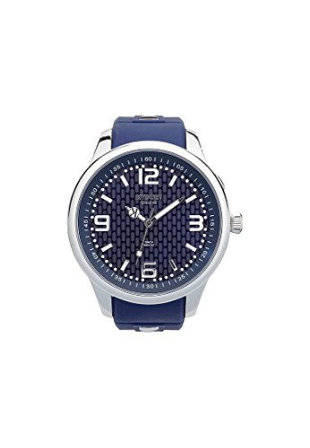 KYBOE Unisex Quartz Watch with Black Dial Analogue Display Quartz One Size Blue Blue