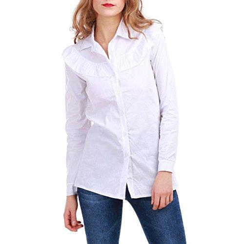 La Modeuse - Chemise femme à colclassique Blanc
