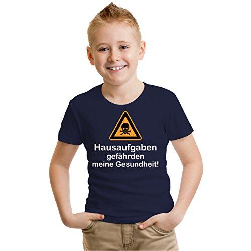 Kinder T-Shirt HAUSAUFGABEN gefährden meine Gesundheit (Hausaufgaben-kinder-t-shirt)