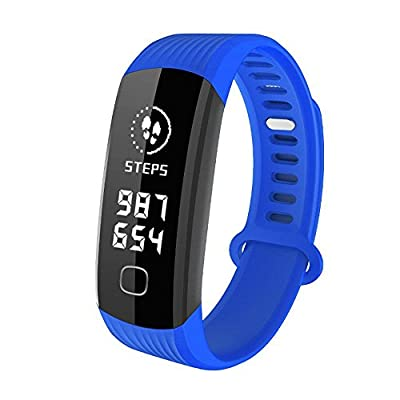 WEARFIT R8 Fitness Tracker : Sport Activity Tracker Smart Band with Heart Rate Monitor Sleep Monitor, Smart Bracelet Pedometer Wristband for iOS & Android Smartphone