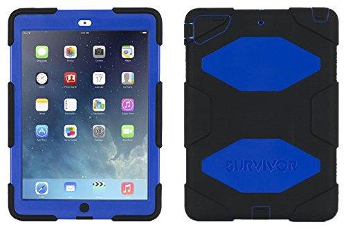Griffin Survivor All Terrain Coque pour iPad Air - Noir/Bleu