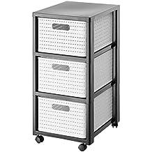 Rollcontainer kunststoff 3 schubladen  Suchergebnis auf Amazon.de für: rollcontainer bad