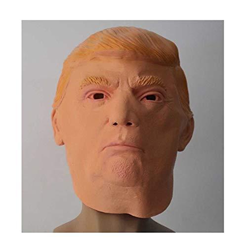 KLJJQAQ Halloween Donald Trump Latex Maske Milliardär Amerikanischer US Präsident Politiker Kostüm,A (Einfach Unwiderstehlich Kostüm)