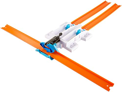Hot Wheels Track Builder Doble Lanzadora con Coches de Juguete, (Mattel DJD68)