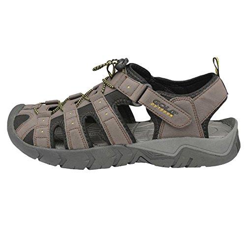 Sapatos De Facilmente De Pedras Sol 2 Trekking Ar Gola Pescador Livre Marrom Migre Homens Sandália Preto Ao Escuro Madeira 7qg8CgwO