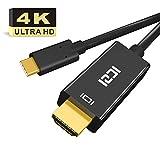 ICZI Cavo USB Type C a HDMI 4K Ultra HD (Compatibile Thunderbolt 3, USB 3.1) per Suface Book 2 Go Huawei P30 Pro P20 Pro Mate10 Pro Chromebook Lenovo Dell PC ed altri Dispositivi USB C 1,8M