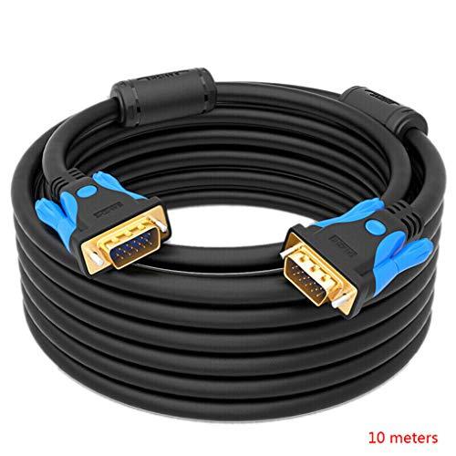abel Stecker-Stecker 1080P D-Sub-Schnur Mehr Abschirmung Projektor Computer-Monitor TV VGA-Kabel ()