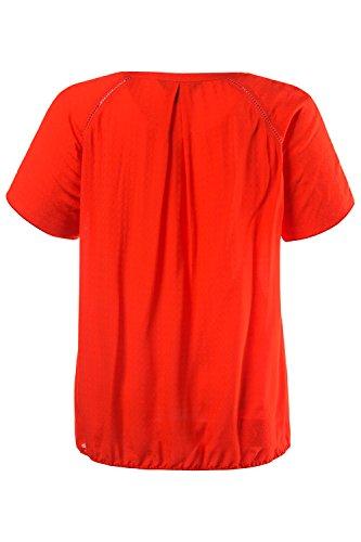 Ulla Popken Femme Grandes tailles T-shirt rouge tendance 704855 rouge flamboyant