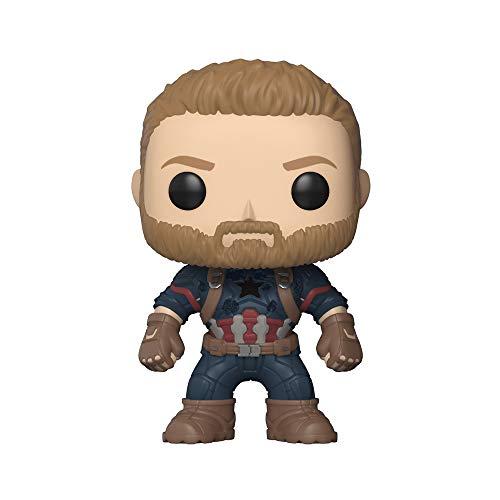 Funko Pop- Pop Marvel: Avengers: Infinity War-Captain America Figura De Vinilo, Multicolor, Talla Única (26466)