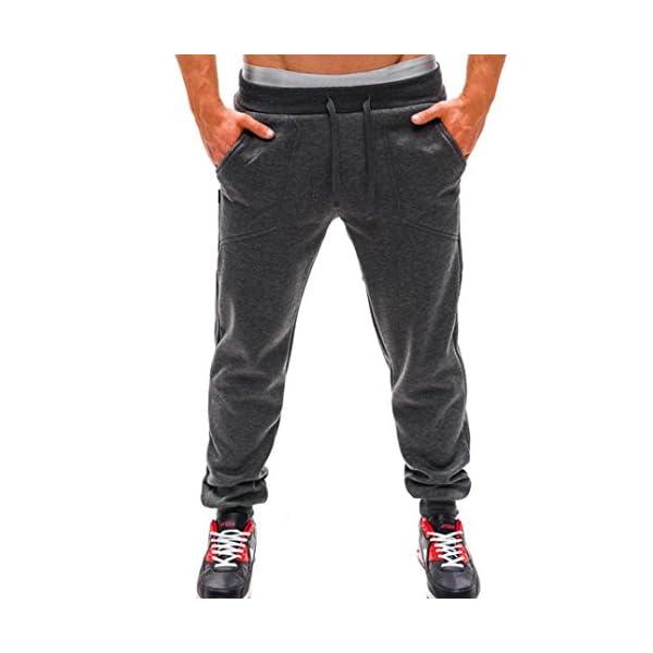 Pantalones Largos para Hombres Moda Casual Chandal Aptitud Rutina de ... 8df852a1ff6