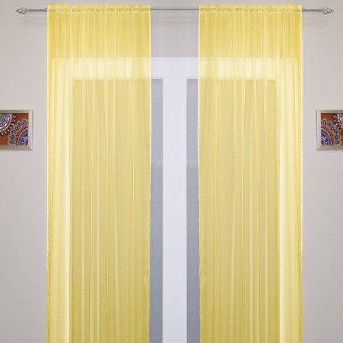 Gelb Gold Tunnelsaum 149.86 cm breit x 182.88 cm lang -