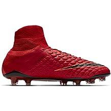 Nike Hypervenom Phantom II DF FG - Hombres De Tacos para Fútbol (Rojo, ...