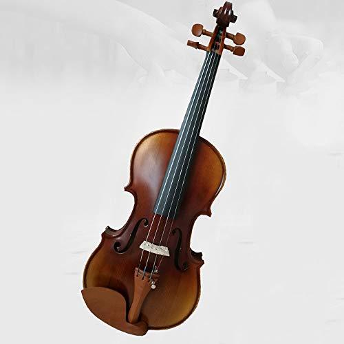 Miiliedy grazioso affascinante legno massello fatto a mano per violino principianti adulti bambini esercizio prestazioni violino incl (dimensione : 3/4)