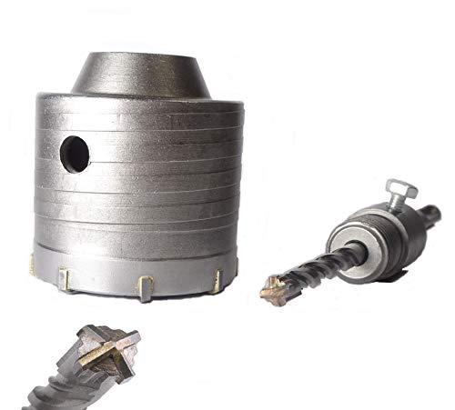 KSP-Tec ® Bohrkrone 68mm - 4 Schneiden Zentrierbohrer - Hammerschlagfest - Dosenbohrer 68mm - Bohrkrone Steckdose für Mauerwerk und Beton