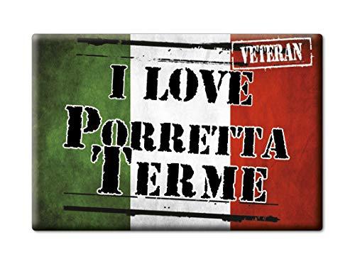 Enjoymagnets PORRETTA Terme Souvenir Emilia Romagna (BO) KÜHLSCHRANK Magnet ICH Liebe Gift (VAR. Veteran)