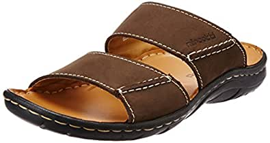 Miraatti Men's Coffee leather Sandals and Floaters - 6 UK (6031-19)