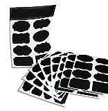 64riutilizzabili (Reusable 8spina Pack) Premium Quality Nero Decorativo Adesivo stickers-pantry Storage Organizer, Mason Jar Chalk Etichette, Etichette di regalo, organizzazione classe-Scrivere Sbucciare e incollare.