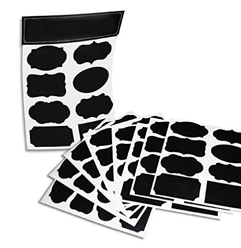64wiederverwendbar (Reusable 8Stecker Pack) Premium Quality Schwarz Deko Klebeband stickers-pantry Storage Organizer, Mason Jar Chalk Etiketten, Etiketten-Geschenk, Organisation Klasse-Schreiben schälen und Kleben.