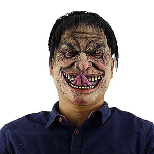 xue binghualoll Halloween Cosplay Scary Mask Kostüm Adult Party Dekoration Requisiten leuchtende Maske,Halloween Ball High-End-Maske,Party Maske (Der Leuchtende Wolf Kostüm)