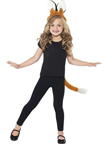 Unisex Kinder Kostüm Tier Zubehör Ohren, Schnurrhaare Kids, Fuchs-Anhänger (Kostüm Tier Ohren)